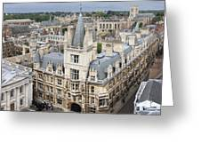 Elevated View Of Cambridge Greeting Card