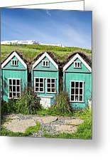 Elf Houses Greeting Card
