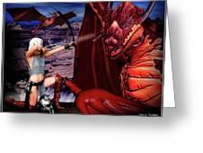 Elf Vs Dragon Greeting Card