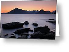 Elgol Red Sunset Greeting Card