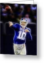 Eli Manning Greeting Card by Paul Ward