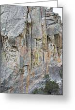 Elijah Weber Climbs A Route Called Thin Slice  Greeting Card