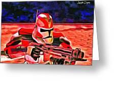 Elite Trooper - Da Greeting Card