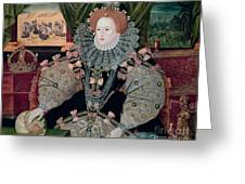 Elizabeth I Armada Portrait Greeting Card by George Gower