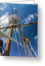 Elizabeth II Mast Rigging Greeting Card