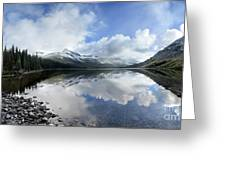 Elizabeth Lake Detail 2 - Glacier National Park Greeting Card