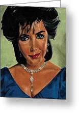 Elizabeth Taylor And La Paragrina Pearl Greeting Card by Jeffrey J Steinberg