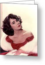 Elizabeth Taylor Diamond Are Forever With Her Collectin Greeting Card
