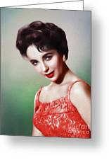 Elizabeth Taylor, Vintage Movie Star Greeting Card