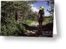 Eliza's Walk In The Countryside. Greeting Card