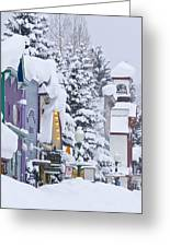 Elk Avenue Snow Greeting Card