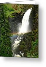 Elk Creek Falls Rainbow Greeting Card