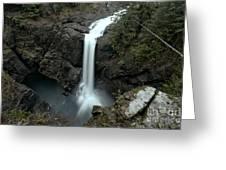 Elk Falls Provincial Park Waterfall Greeting Card