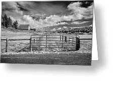 Elk River Valley In Infrared Greeting Card