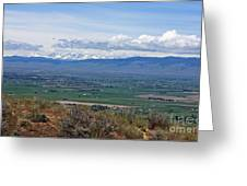 Ellensburg Valley With Sagebrush And Lupine Greeting Card