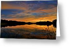 Ellenton Lake Sunset 02 Greeting Card