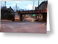 Ellicott City Nights - Entrance To Main Street Greeting Card
