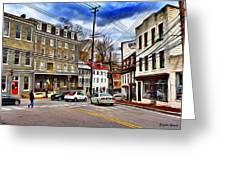 Ellicott City Streets Greeting Card