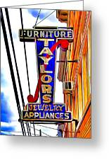 Ellicott City Taylor's Sign Greeting Card