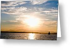 Elliott Bay Sunset Greeting Card