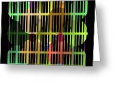 Ellipses Spheres Segmented Greeting Card