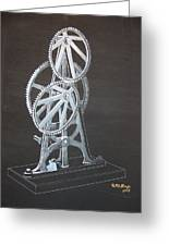Elliptical Gears Greeting Card