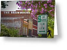 Elm Street Downtown Greensboro Greeting Card