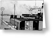 Elsinore Port Denmark Greeting Card