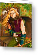 Elven Hunter Greeting Card