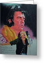 Elvis And Jon Greeting Card