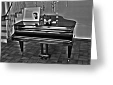 Elvis And The Black Piano ... Greeting Card