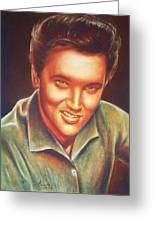 Elvis In Color Greeting Card by Anastasis  Anastasi