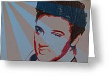 Elvis Pop Art Poster Greeting Card