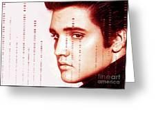 Elvis Preslely Greeting Card