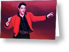 Elvis Presley 4 Painting Greeting Card