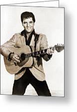 Elvis Presley By Mb Greeting Card