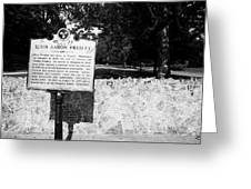 Elvis Presley Marker Nameplate And Low Wall Outside Graceland Memphis Tennessee Usa Greeting Card