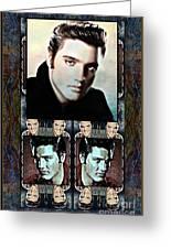 Elvis Presley Montage Greeting Card