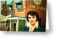 Elvis Presley The King At Sun Studio Memphis Tennessee 20160216 Square Greeting Card