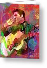 Elvis Rockabilly  Greeting Card by David Lloyd Glover