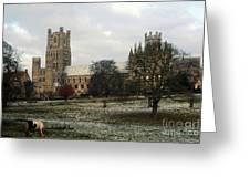 Ely Cambridgeshire, Uk.  Ely Cathedral  Greeting Card