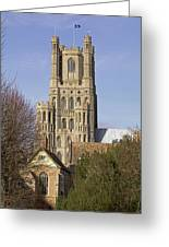 Ely Cathedral West Tower Greeting Card