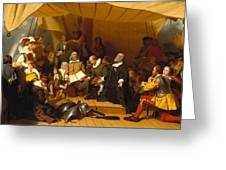 Embarkation Of The Pilgrims Greeting Card