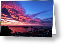Ember Sunrise Greeting Card