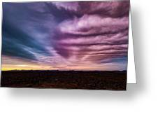 Embers Of A Fading Sunset Greeting Card