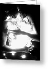 Embracing Light - Self Portrait Greeting Card