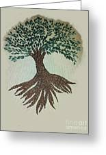 Embroidered Tree Greeting Card