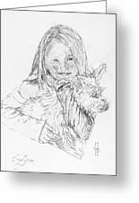 Emelyne With Er Dog Greeting Card