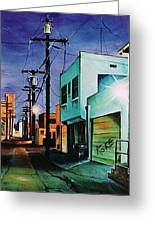 Emerald Alley Greeting Card