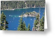 Emerald Bay Greeting Card by Carol Groenen